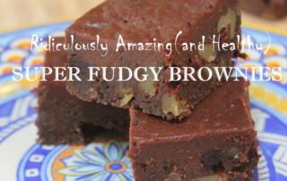 healthy fudgy brownies grain free