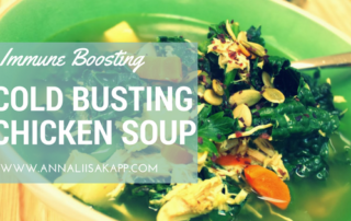 cold busting chicken soup, gluten free