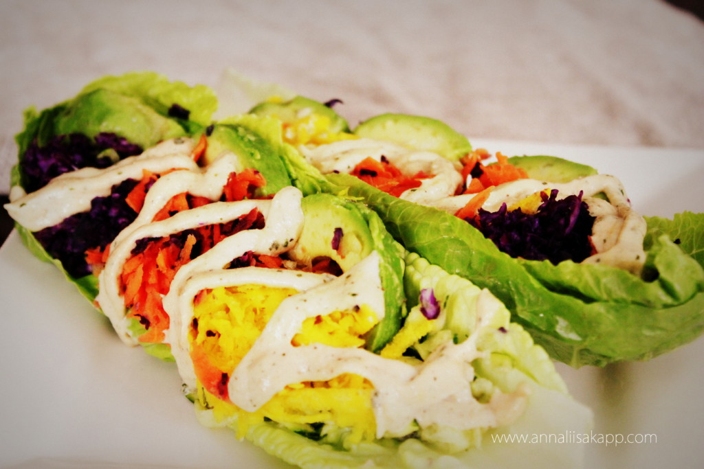 Romaine Lettuce Salad Boats