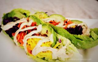Romaine Lettuce Salad Boats