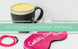 sleepy tea with turmeric and passionflower