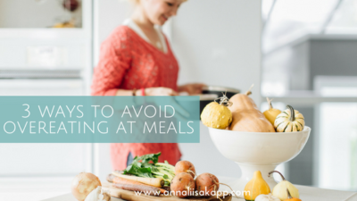 how to prevent over eating at meals