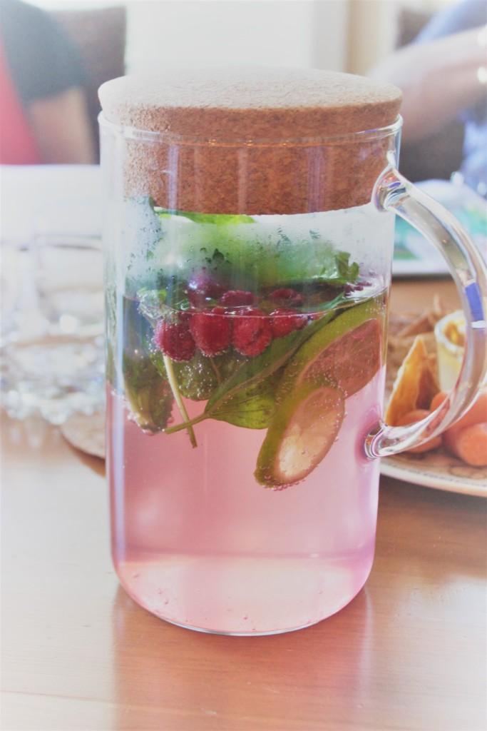 Raspberry Mint Water