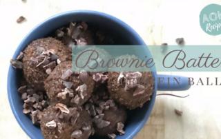 brownie batter protein balls