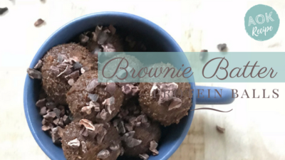 brownie batter protein balls