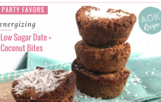 low sugar gluten free date coconut bites