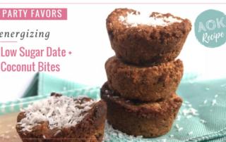 low sugar gluten free date coconut bites