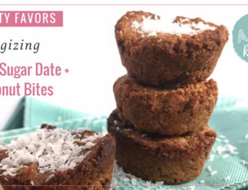 Energizing Low Sugar Date + Coconut Bites