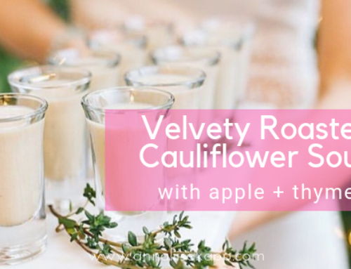 Velvety Roasted Cauliflower, Apple, and Thyme Soup