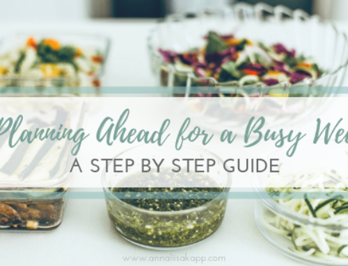 Planning Ahead for a Busy Week: Step By Step Guide